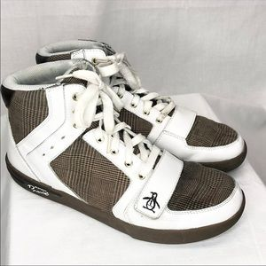 Penguin Original Moby Hi Top Sneakers plaid Sz 10